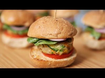 Veg Burger   Mini Veg Sliders   Tasty Snack Recipe by Ruchi's Kitchen
