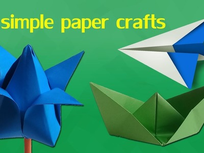 3 Simple Paper Crafts for Kids | Easy Paper Craft for Kids Step by Step Tutorial