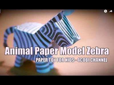 Animal Paper Model - Zebra - Paper Toy | 4cobi Channel