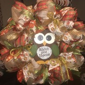 Bless Our Home- Fall Owl Wreath
