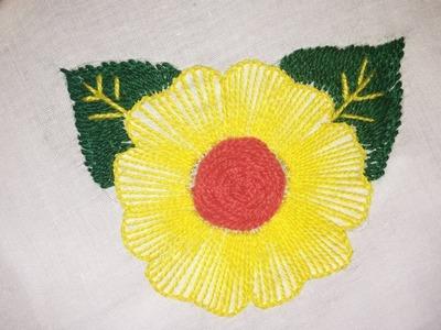 Button Hole Stitch . Hand Embroidery Hand . Beautiful Rose Stitches