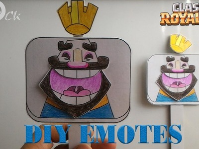 DIY Clash Royale Paper Emotes (Part 2) - Clash Royale Toys