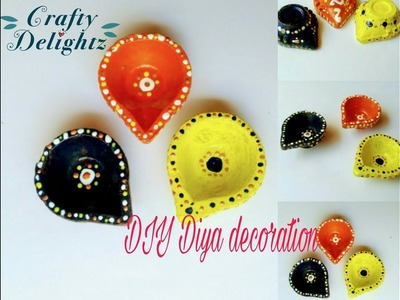 DIY diya decoration. using toothpick simple and easy home decor. by crafty delightz