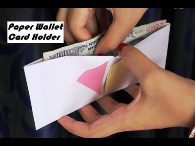 DIY - How to make a paper wallet 2 | Origami wallet | Easy Paper Purse origami | Card Holder