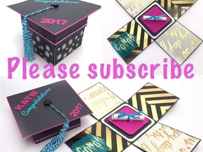 DIY - How to make graduation hat gift card holder