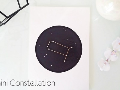 DIY Room Decor | Gemini Constellation Wall Art
