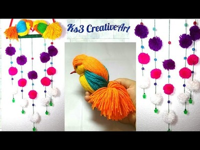 DIY Woolen Birds Wall Hanging for Home Decoration | Woollen Bird making | Room decor