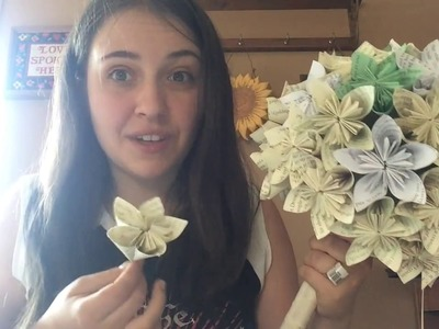Easy Origami Wedding Bouquet Part 2 | DIY | Budget | Crafts | Fun | Creative | Harry Potter