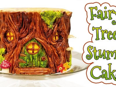 FAIRY TREE STUMP CAKE ♦ LadyBakington ♦ Easy How-to DIY Baking Tutorial