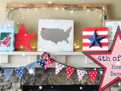 Farmhouse Decor - DIY 4th of July Home Decorations - 2017