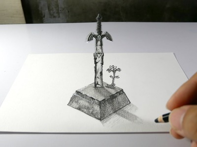 How to | 3D Drawing Master Sword from Zelda Breath of the wild | YutthaphanArt