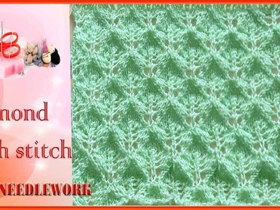 How to Knit Diamond Mesh stitch