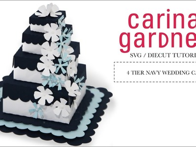 How to Make a 4 Tier Wedding Cake with Your Silhouette Cameo