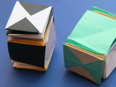 How to make a origami magic spiral cube