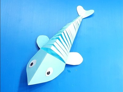 How to Make a Paper Moving Fish   Easy Origami Moving fishes for beginners making  Paper Fish Crafts