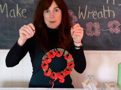 How to Make a Poppy Wreath