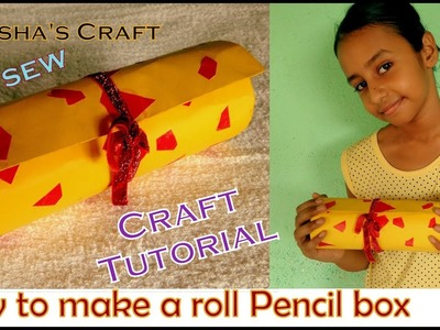 How to Make a Roll-Up  Pencil Box or Case. Beautiful and Useful Tutorial. Use for School