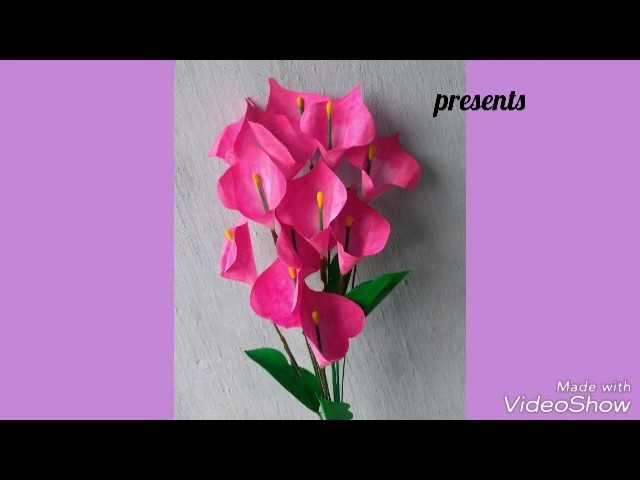 How to make a simple flower from white paper sheet