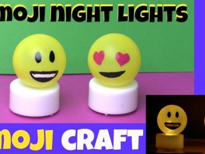 HOW TO MAKE AN EMOJI NIGHT LIGHT - DIY EMOJI CRAFTS FOR KIDS