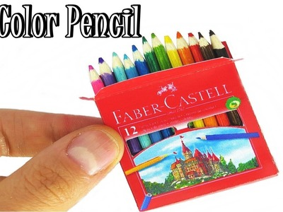 How To Make Color Pencil Realistic Miniature With Box Faber Castell DIY