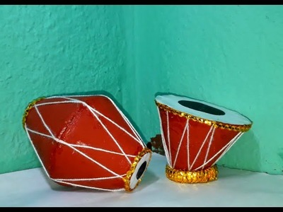 How to make dholak and tabla by useing the soil tea pot or cup in few simple step how to recycle cup