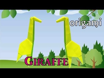 How To Make Origami Animal Easy for Kids but Cool | Paper Giraffe DIY Craft step by step