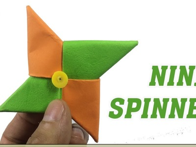 How to make PAPER Fidget Spinner without Bearing - Easy DIY Tutorial