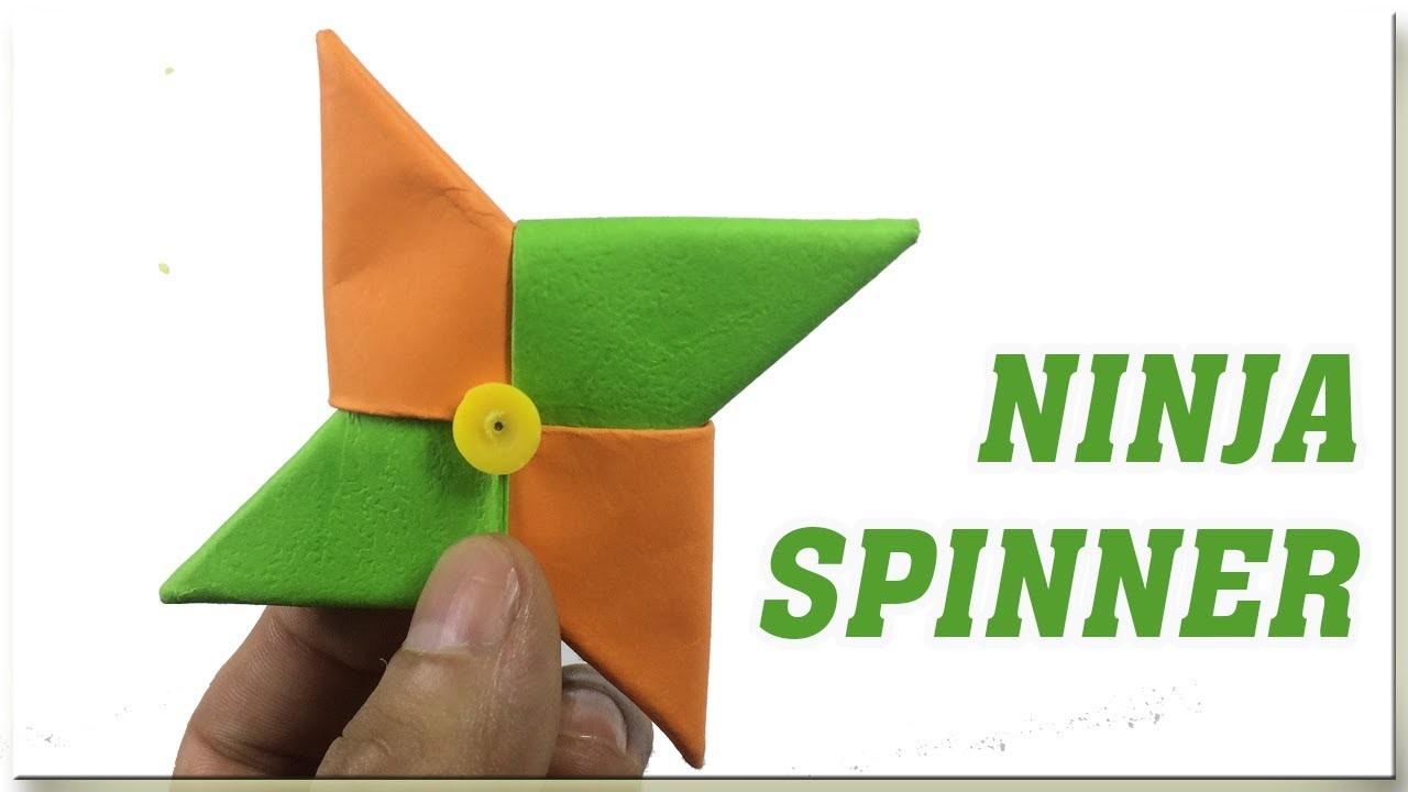 How To Make Paper Fidget Spinner Without Bearing Easy