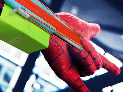 How to make spider-man homecoming Throw Cobwebs - USING PAPER