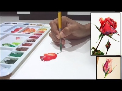 How to painting rose easy-water colour DIY