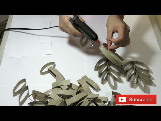 How to recycled toilet paper rolls into home decor | Wall Decor | DIY | Crafts | Arts