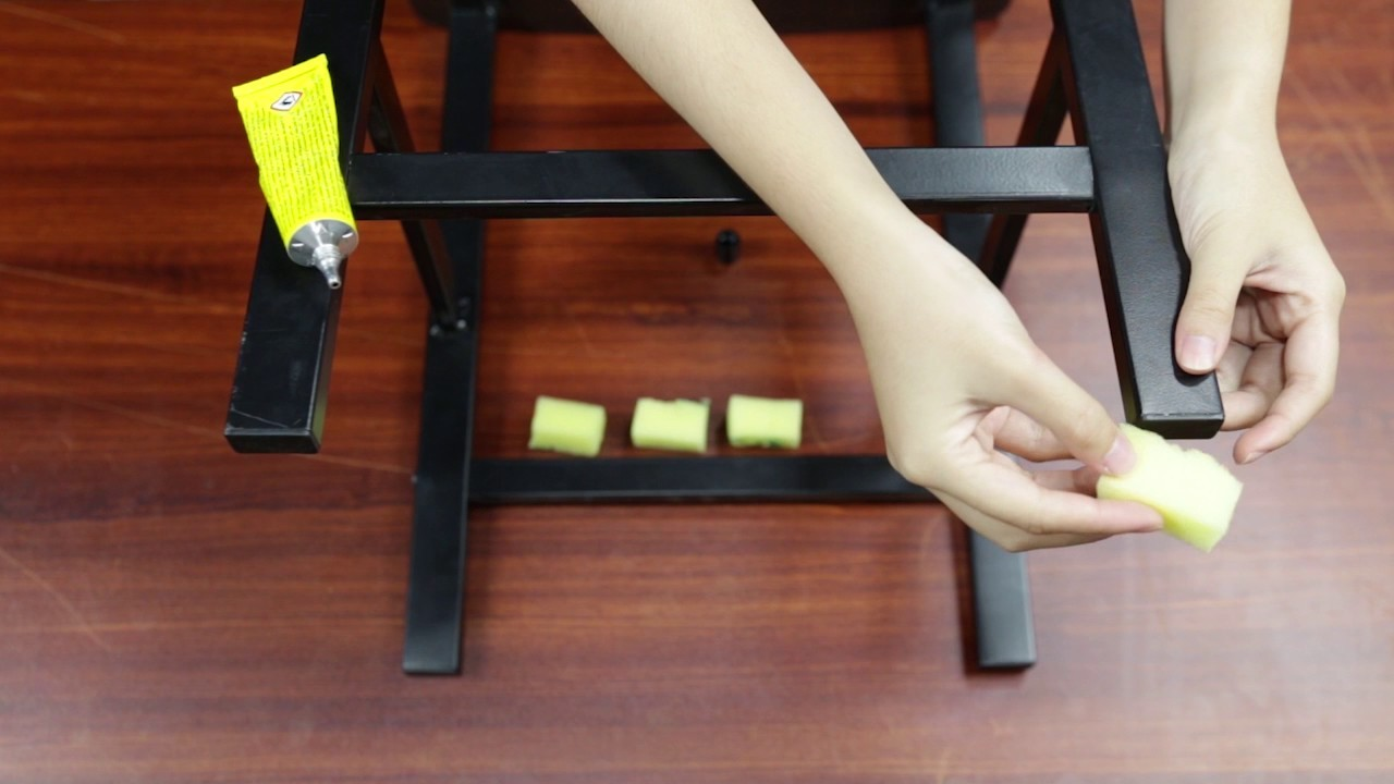 How To Use Sponges To Create Chair Leg Pads DIY