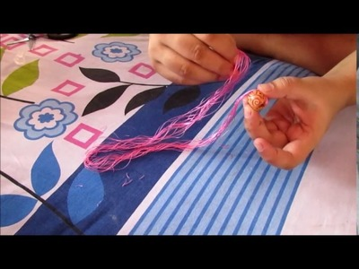 How to Wrap Silk Thread on Wooden Beads| easiest way|