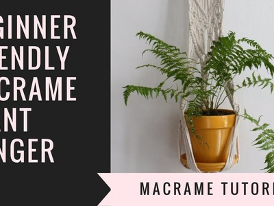 MACRAME DIY PLANT HANGER.How to make a decorative macrame plant hanger.