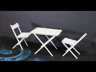 Miniature Table and Chair. How to Make Miniature Table and Chair at home. Miniature Project