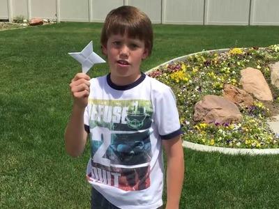 Ninja Stars - DIY - How to make paper ninja stars