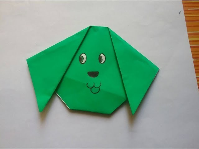 Origami puppy face, summer  papercraft for the kids,fun and easy origami ,cute puppy face making ,