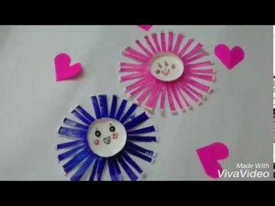 Paper cup flower | tea cup flower|wall decors flower.