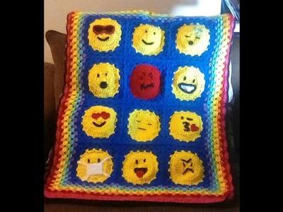 Part 1: Fun Crochet 12-Emoji Afghan