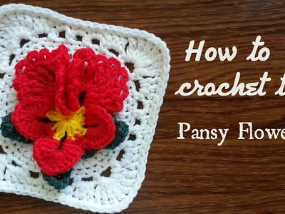 Part 1 | How to crochet Pansy Flower