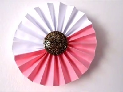 Room decor ideas: How to Make Paper Rosettes Flowers | 5 Minute crafts | Easy paper crafts