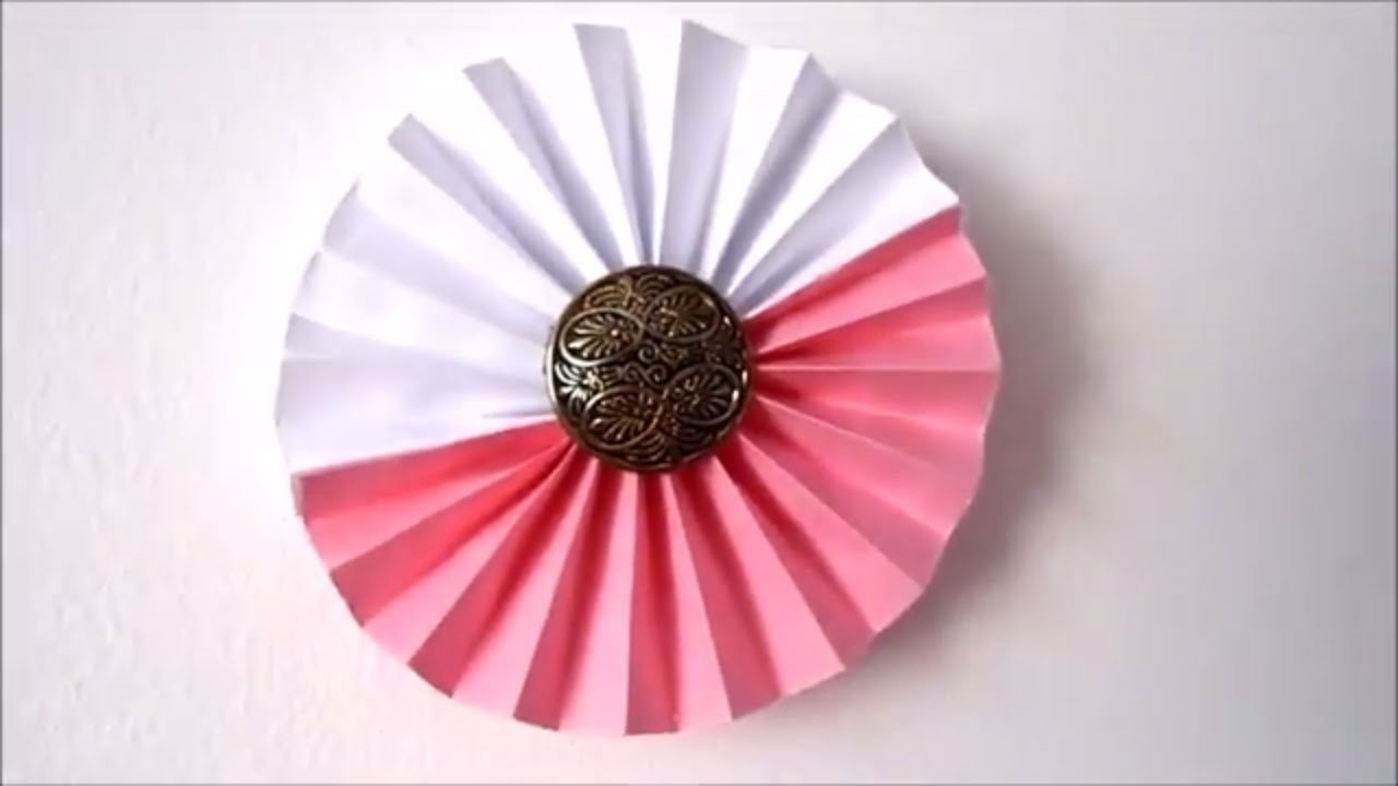 Room Decor Ideas How To Make Paper Rosettes Flowers 5 Minute