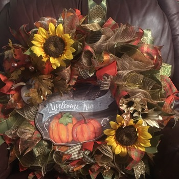 Welcome Friends- Fall Wreath
