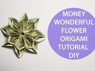 Wonderful Money Flower Origami Tutorial Dollar DIY Gift