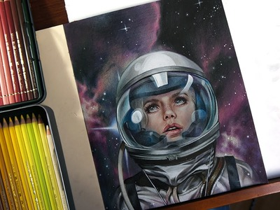 Astro Girl - Time-lapse drawing