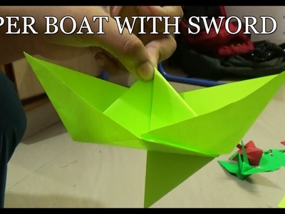 Boat  with Sword Fin | Origami Sword Fin Boat | Paper Boat Making Videos