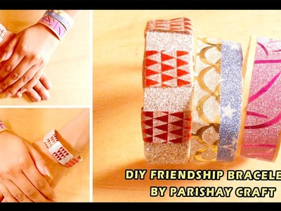 DIY Friendship Bracelets - How to Make a Hand Band with Popsicle Stick
