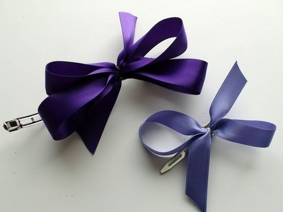 DIY: How To Make A Very Easy Hair Bow Clip