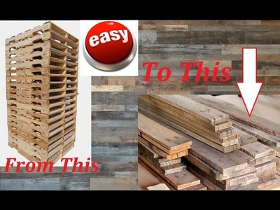 Fastest and Easiest way to break down a pallet