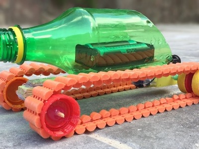 How to Make a Simple Electric Tank Out of Plastic Bottle at Home - Tutorial